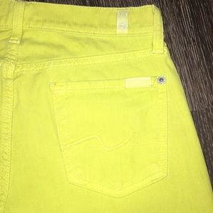7 for all mankind Jeans Yellow Skinny